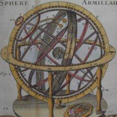 Grabados : GRABADO ESFERA ARMILAR DE BOURGOIN, 1739. Lote 12481979