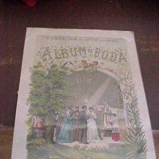 Grabados : GRABADO DEL LIBRO ALBUM DE BODA. CAROLINA DE SOTO Y CORRO.. Lote 27116888