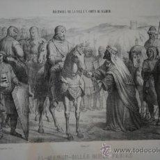 Grabados : AL-MAMUN-BILLÁH RINDE PARIAS JUNTO A MADRID A FERNANDO 1º DE CASTILLA. (ERA 1085-AÑO 1047).. Lote 29237316