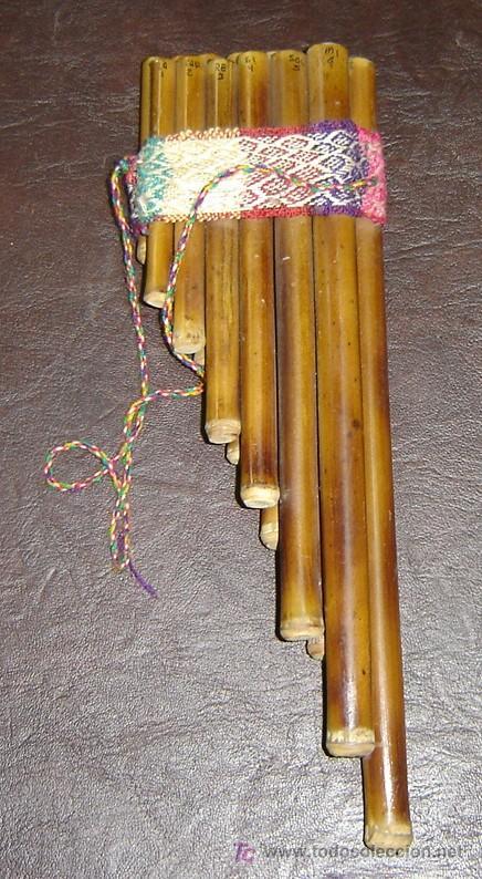 FLAUTA PERUANA DE CAÑA MEDIDAS 31*10 CMS. (Música - Instrumentos Musicales - Viento Madera)