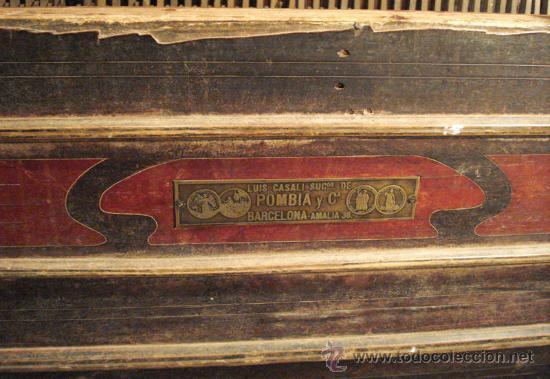 Instrumentos musicales: Organillo restaurado Pombia Barcelona del taller de Luís Casal. Año 1870 aprox. - Foto 4 - 18126461