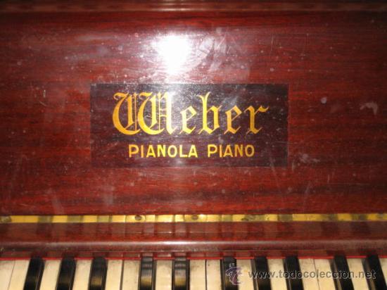 Instrumentos musicales: PIANOLA PIANO WEBER Y ROLLOS DE MUSICA - Foto 2 - 80134227