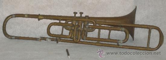ANTIGUO TROMBON DE PISTONES (Música - Instrumentos Musicales - Viento Metal)