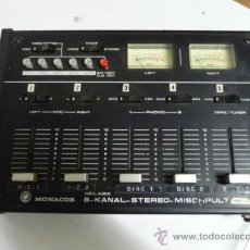 Instrumentos musicales: MEZCLADOR MIXER MONACOR DE 8 CANALES AÑOS 80 (FUNCIONA A PILAS) CON TODOS LOS CABLES PARA USO ACTUAL. Lote 21489524