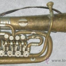 Instrumentos musicales: ANTIGUO INSTRUMENTO METAL CON SELLO ROTT PRAGA BOHEMIA - AÑO 1869. BOMBARDINO.. Lote 17849201