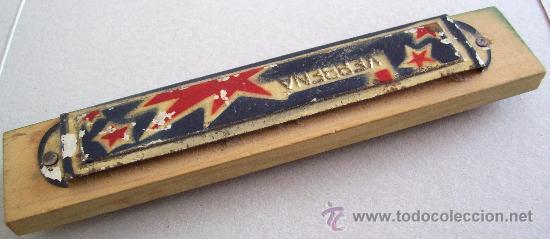 Instrumentos musicales: sencilla armonica de madera y chapa marca verbena - juguete (14,3x2,6cm aprox) - Foto 2 - 24608425