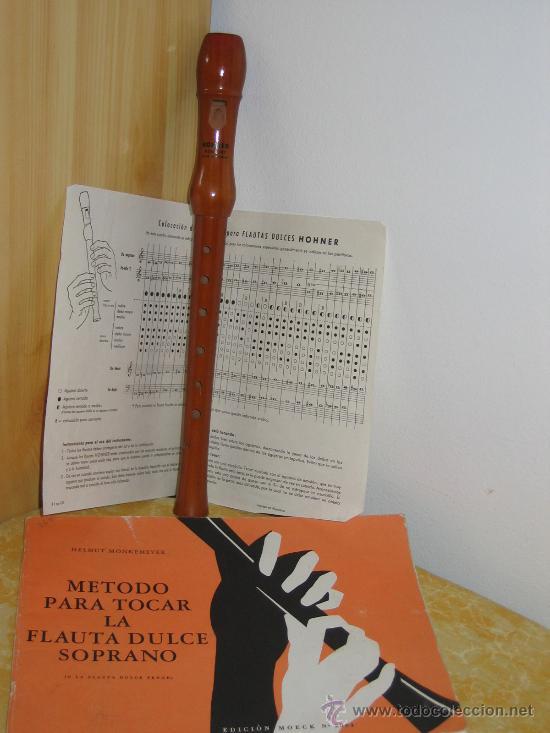 FLAUTA DULCE HONNER (ALEMANIA) Y MÉTODO DE INTERPRETACIÓN. (Música - Instrumentos Musicales - Viento Madera)