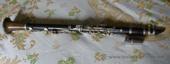 Instrumentos musicales: ANTIGUO CLARINETE CON ESTUCHE. - Foto 2 - 58579255