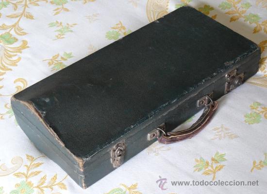 Instrumentos musicales: ANTIGUO CLARINETE CON ESTUCHE. - Foto 3 - 58579255