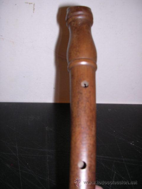 Instrumentos musicales: FLAUTA,ANTIGUA POPULAR,GRABADO NªSº DE LA SALUD,TERRADAS,VER FOTOS,21,5 CM. LARGA, - Foto 4 - 22510154
