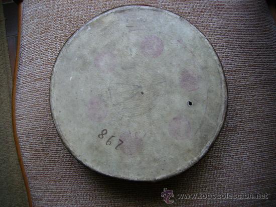 Instrumentos musicales: pandereta muy antigua en madera y piel tiene 20cms de diametro pieza de museo - Foto 3 - 26209833