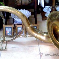Instrumentos musicales: TROMBÓN ANTIGUO EN LATON DORADO S. XIX. Lote 27964370