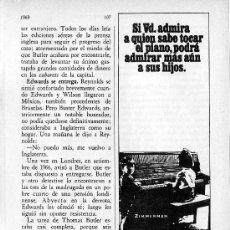 Instrumentos musicales - PUBLICIDAD EN PRENSA 1969 - ZIMMERMAN - PIANO MUSICA - 28071235