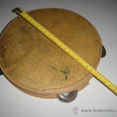 Instrumentos musicales: PANDERETA DE MADERA Y CUERO.. Lote 75316225