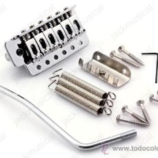 Instrumentos musicales: PUENTE PARA GUITARRA ELECTRICA TIPO STRAT O SIMILAR, COLOR NIQUEL. Lote 53807426