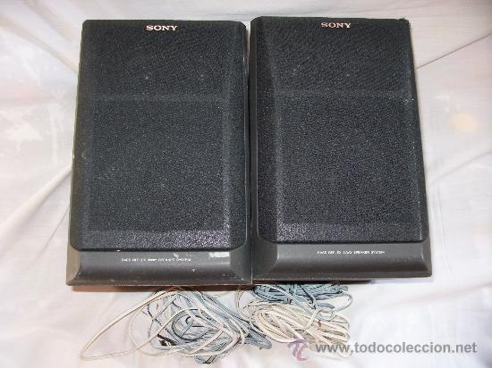 2 ALTAVOCES - SONY BASS REFLEX 3WAY SPEAKER SYSTEM - MODELO SS-H 1600 - IMPEDANCIA 6 OHM - 60W (Música - Instrumentos Musicales - Accesorios)