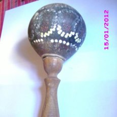 Instrumentos musicales: PERCUSION ANTIGUA AFRICA 22 CM APROX. Lote 30129128