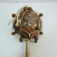 Instrumentos musicales: MARACA - MADE IN MEXICO - HAVANA CLUB - 20 CM. Lote 30289202
