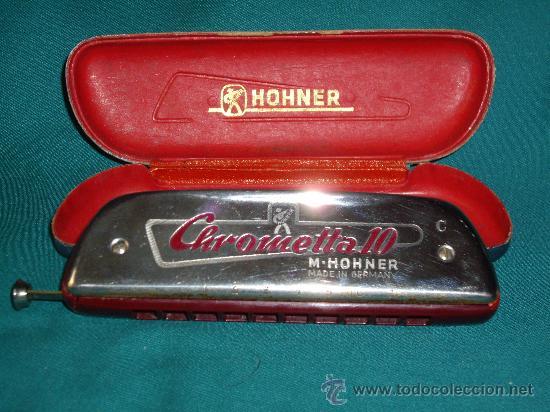 Instrumentos musicales: ARMONICA M.HOHNER - C - CHROMETTA 10 - - Foto 3 - 42182351