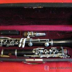Instrumentos musicales: CLARINETE DE EBANO. Lote 30675801