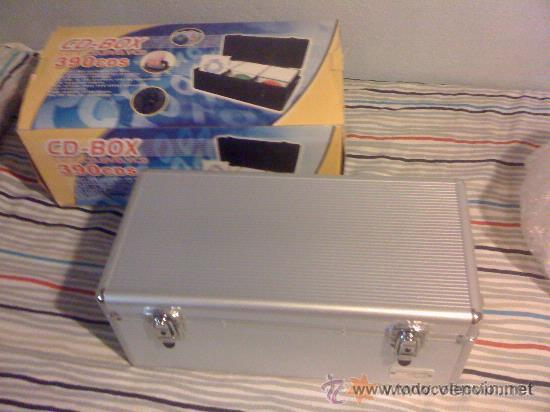 CAJA PROFESIONAL PARA DJ. 390 CD'S. METÁLICA. NUEVA. (Música - Instrumentos Musicales - Accesorios)