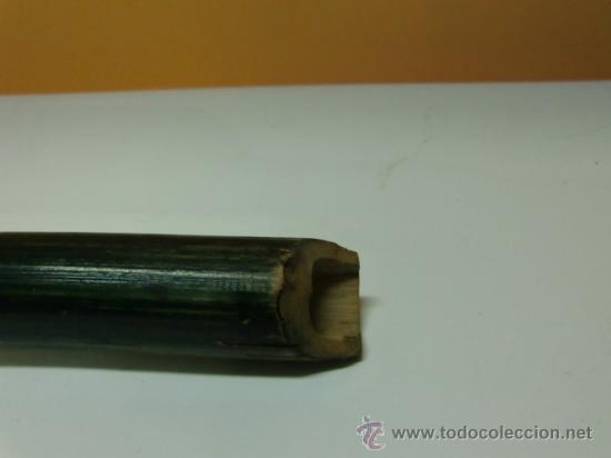 Instrumentos musicales: Flauta verde con dibujos. Le falta la boquilla - Foto 6 - 32154578