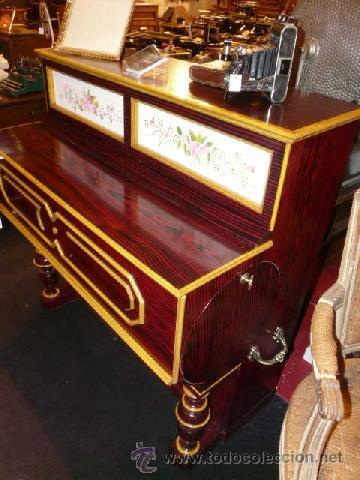 Instrumentos musicales: Organillo de manubrio italiano. Restaurado. Año 1900 aprox. - Foto 4 - 32540356