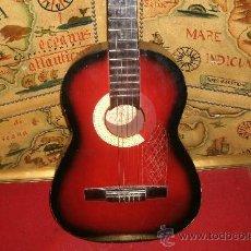 Instrumentos musicales: ANTIGUA GUITARRA ANTIGUA ESPAÑOLA MARCA DIS - COM -------- RESTAURADA - COLOR ROJIZO. Lote 33439089