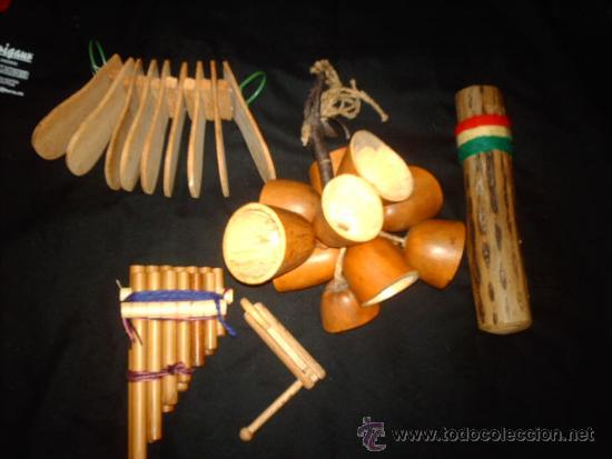 LOTE DE 5 ANTIGUOS INSTRUMENTOS DE MADERA-FUNCIONANDO-COLECCIONISMO (Música - Instrumentos Musicales - Viento Madera)