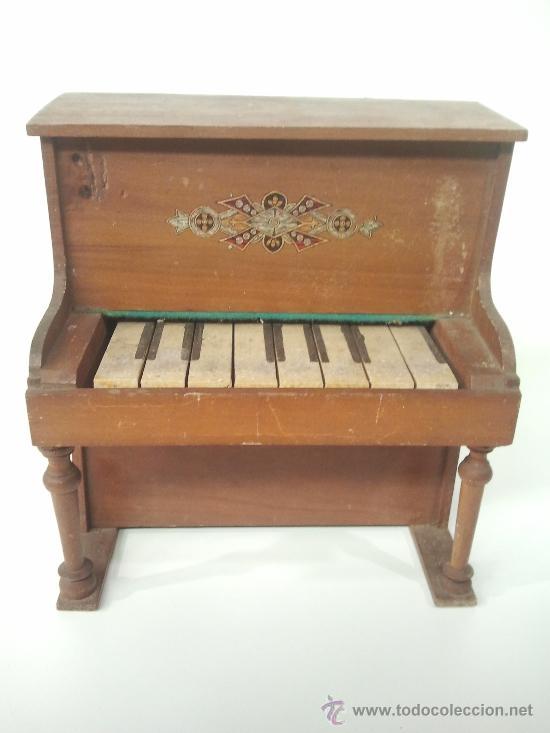 Piano de juguete de madera comprar pianos antiguos en - Juguetes antiguos de madera ...