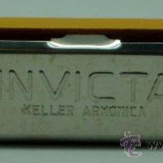 Instrumentos musicales: ARMÓNICA INFANTIL INVICTA MADERA Y METAL DE KELLER NUEVA SIN USO. Lote 192465661