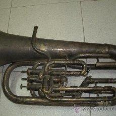 Instrumentos musicales: ANTIGUO Y ENORME BOMBARDINO EUROPEO ORIGINAL DEL SIGLO XIX. Lote 35049481