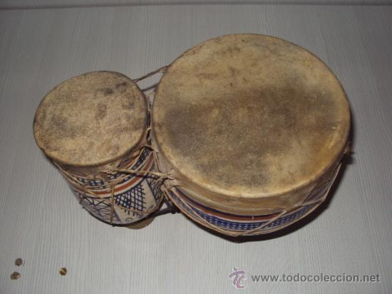 Instrumentos musicales: ANTIGUOS BONGOS DE CERAMICA - Foto 4 - 35014738