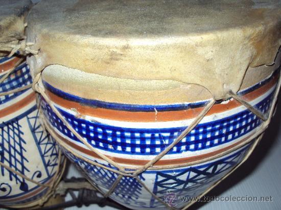 Instrumentos musicales: ANTIGUOS BONGOS DE CERAMICA - Foto 3 - 35014738