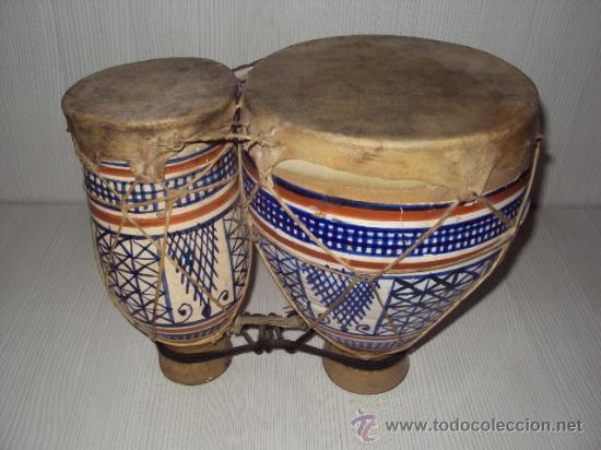ANTIGUOS BONGOS DE CERAMICA (Música - Instrumentos Musicales - Percusión)