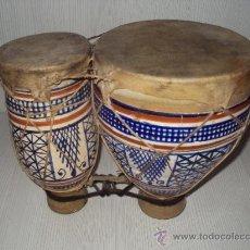 Instrumentos musicales: ANTIGUOS BONGOS DE CERAMICA. Lote 35014738