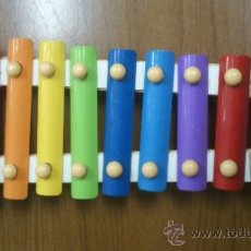 Instrumentos musicales: XILOFONO METAL Y MADERA. Lote 35675592