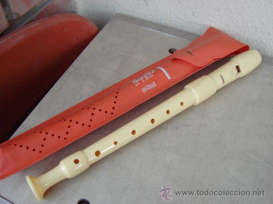 ANTIGUA FLAUTA DULCE HOHNER CON SU FUNDA. AÑOS 60-70 (Música - Instrumentos Musicales - Viento Madera)