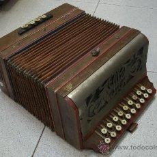 Instrumentos musicales: ANTIGUO ACORDEÓN - BANDONEÓN ORIGINAL DE PRINCIPIOS DEL XX EN MADERA Y TECLAS DE HUESO. Lote 41155567