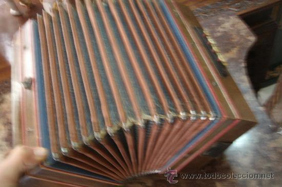 Instrumentos musicales: ANTIGUO ACORDEÓN - BANDONEÓN ORIGINAL DE PRINCIPIOS DEL S. XX EN MADERA Y TECLAS DE HUESO - Foto 7 - 41155567