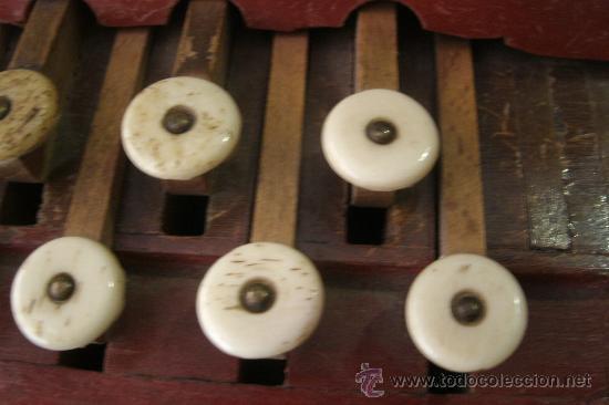 Instrumentos musicales: ANTIGUO ACORDEÓN - BANDONEÓN ORIGINAL DE PRINCIPIOS DEL S. XX EN MADERA Y TECLAS DE HUESO - Foto 4 - 41155567