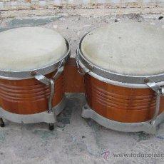 Instrumentos musicales: BONGOS EN MADERA . Lote 35949624