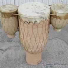 Instrumentos musicales: BONGOS EN CERAMICA. Lote 35949874
