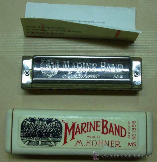 ARMÓNICA MARINE BAND. M. HOHNER Nº 1896. MADE IN GERMANY. 10 CM (Música - Instrumentos Musicales - Viento Metal)