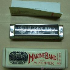 Instrumentos musicales: ARMÓNICA MARINE BAND. M. HOHNER Nº 1896. MADE IN GERMANY. 10 CM. Lote 35981240