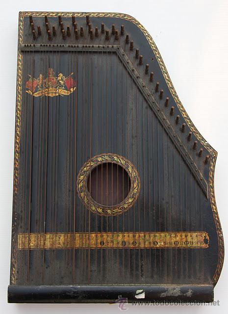 CÍTARA NORTEAMERICANA. AMERICAN ZITHER. (Música - Instrumentos Musicales - Cuerda Antiguos)