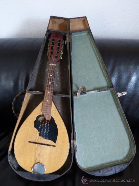 MANDOLINA ANTIGUA CON ESTUCHE DE MADERA (Música - Instrumentos Musicales - Cuerda Antiguos)