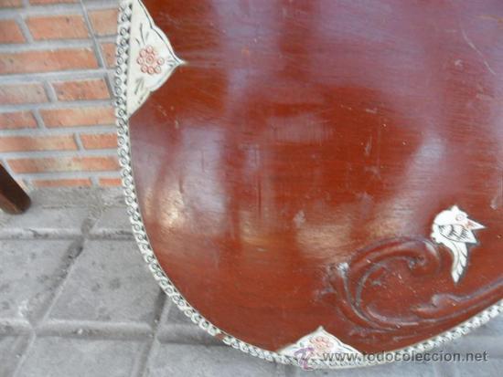 Instrumentos musicales: guitarra larga con incrustaciones de hueso - Foto 4 - 38599356