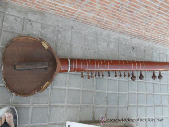 Instrumentos musicales: guitarra larga con incrustaciones de hueso - Foto 8 - 38599356