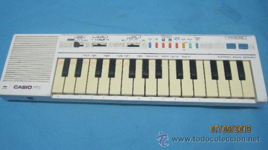 ANTIGUO PIANO ORGANO JUGUETE DE INICIACION MARCA CASIO PT 1 (Música - Instrumentos Musicales - Pianos Antiguos)